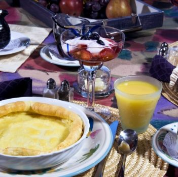 breakfast, soufflé, orange juice, drink