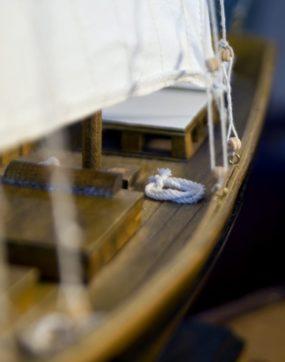 boat, hooks, sail, wood