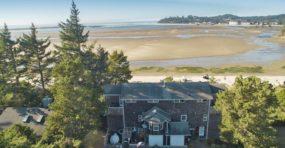 house, beach, tree