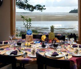 table, beakfast, dining, window, shores, beach